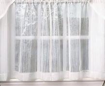 "Harmony 36"" kitchen curtain tier - White"
