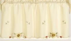 "Sunflowers 36"" kitchen curtain tier"