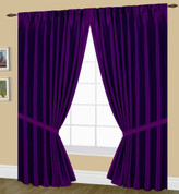 Elaine Pinch Pleated Drape PAIR - Purple