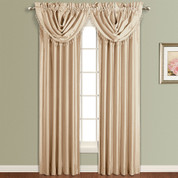 Anna Faux Silk Rod Pocket Curtain Panel - TAUPE