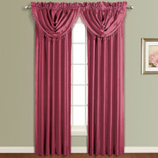 Anna Faux Silk Rod Pocket Curtain Panel - BURGUNDY