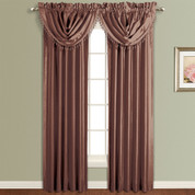 Anna Faux Silk Rod Pocket Curtain Panel - CHOCOLATE