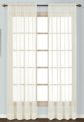Batiste Semi-Sheer Rod Pocket Curtain - NATURAL