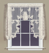 Butterfly lace valance Ivory (one shown)