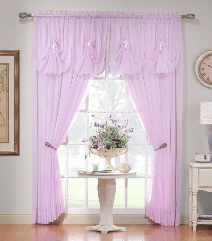 "Emelia Sheer Curtain Panel 63"" Long"