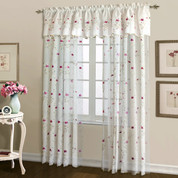 Loretta Embroidered Sheer Rod Pocket Curtain Panel - Violet