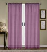 Monique Sheer Rod Pocket Curtain - Purple