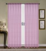 Monique Sheer Rod Pocket Curtain - Lilac