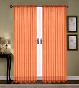 Monique Sheer Rod Pocket Curtain - Orange