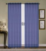 Monique Sheer Rod Pocket Curtain - Navy