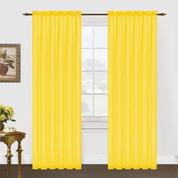 Monique Sheer Rod Pocket Curtain - Neon Yellow