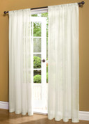 Weathershield Insulated Sheer Rod Pocket Curtain Panel - White