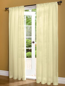 Weathershield Insulated Sheer Rod Pocket Curtain Panel - Ivory