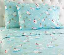 Micro Flannel Sheet Set - Fun in the Snow from Shavel