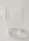 Acrylic Ribbed Tumbler - Clear
