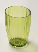 Acrylic Ribbed Tumbler - Palm Green