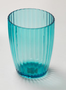 Acrylic Ribbed Tumbler - Cerulean Blue