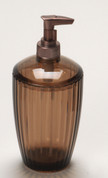 Acrylic Ribbed Lotion/Soap Dispenser - Brown