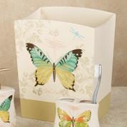 Butterfly Bliss - shower curtain & bathroom accessories wastebasket