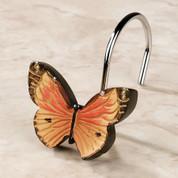 Butterfly Bliss - shower curtain & bathroom accessories shower hooks