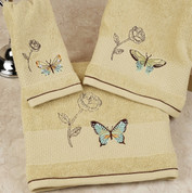 Butterfly Bliss - shower curtain & bathroom accessories fingertip towel