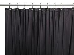 """Extra Long Black Vinyl Shower Curtain Liner 84"""" long"""