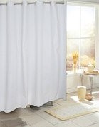 EZ On Hookless Shower Curtain - No Shower Hooks required - Available in 3 SOLID colors