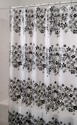 Fiore Vinyl Shower Curtain - Black