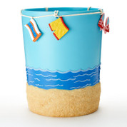 Hanging Loose wastebasket -  shower curtain & bathroom accessories collection from Saturday Knight Ltd