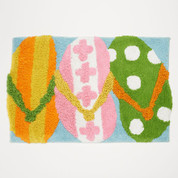 Hanging Loose shower curtain rug & bathroom accessories collection from Saturday Knight Ltd