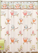 Hooty - Fabric Shower Curtain