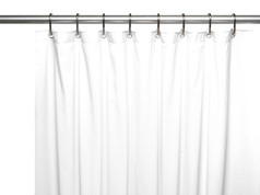 Hotel Quality Vinyl Shower Curtain Liner - White
