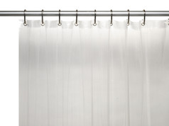 Hotel Quality Vinyl Shower Curtain Liner - Clear