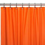 Hotel Quality Vinyl Shower Curtain Liner - Orange