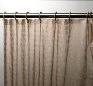 PEVA Shower Curtain with Built in Hooks - Brown