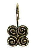 Piermont Shower Curtain Rings/Hooks - Antique Gold