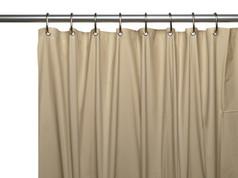 Premium VINYL Shower Curtain Liner - Linen