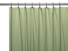 Premium VINYL Shower Curtain Liner - Sage
