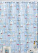 Sailing - Fabric Shower Curtain