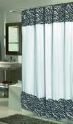 Serengeti Zebra Faux Fur Shower Curtain