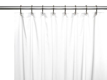 Solid Vinyl Shower Curtain Liner 3 gauge - White