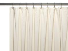 Solid Vinyl Shower Curtain Liner 3 gauge - Bone