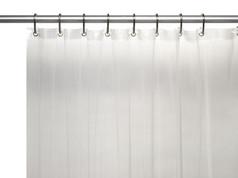Solid Vinyl Shower Curtain Liner 3 gauge - Clear
