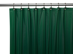 Solid Vinyl Shower Curtain Liner 3 gauge - Evergreen