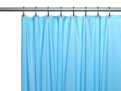 Solid Vinyl Shower Curtain Liner 3 gauge - Blue