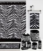 Zebra Black - Shower Curtain Hooks - set of 12