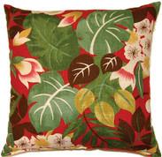Isla Throw Pillows (Set of 2) - Crimson