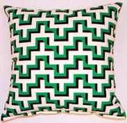 Jigsaw Throw Pillows (Set of 2) - Malachite