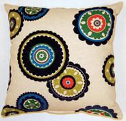 Rumi Throw Pillows (Set of 2) - Navy