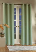 Weathermate Thermologic Grommet Top Curtain pair - Sage